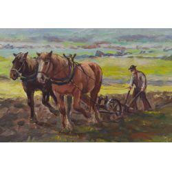 "View 2: G. Winkelberg (20th Century) ""Farm"" Oil on Canvas"