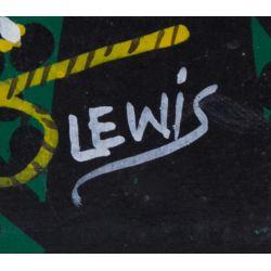 "View 3: Lewis (Twentieth Century) ""Birds"" Acrylic on Canvas"