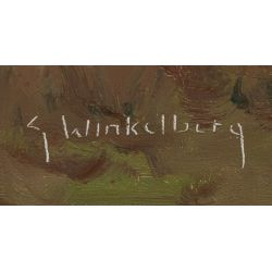 "View 3: G. Winkelberg (20th Century) ""Farm"" Oil on Canvas"