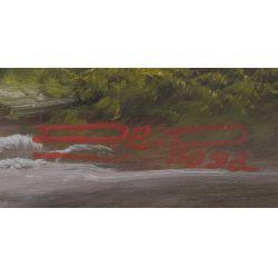 "View 4: De Rosa (20th Century) ""Mountains"" Oil on Canvas"