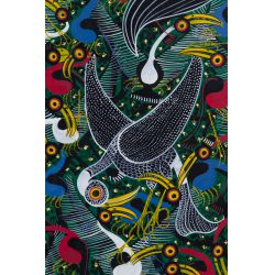 "View 2: Lewis (Twentieth Century) ""Birds"" Acrylic on Canvas"