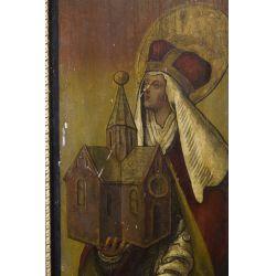 View 2: Religious Icon Oil on Wood Panel