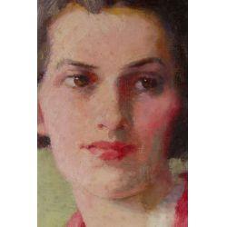 "View 3: Sarah Crosby Buck (American, 19th/20th Century) ""Portrait"" Oil on Canvas"