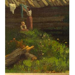 "View 3: B. V. Grale (German, 19th Century) ""European City"" Oil on Canvas"
