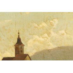 "View 2: B. V. Grale (German, 19th Century) ""European City"" Oil on Canvas"
