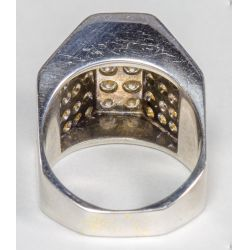 View 3: Rhodium Plated 18k Gold and Diamond Ring