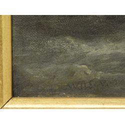 "View 3: John Jock Wilson (English, 1774-1855) ""Ships"" Oil on Canvas"
