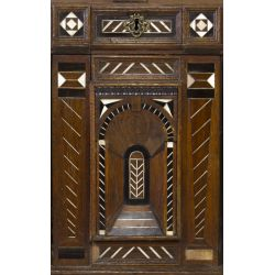 View 4: Flemish Oak Cabinet with Bone Inlay