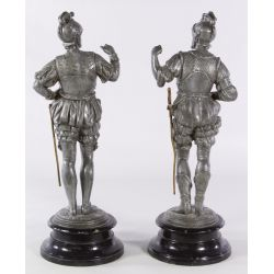 View 2: Metal Soldier Statues
