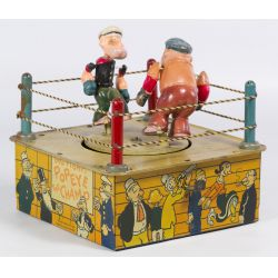 """View 2: Marx """"Popeye the Champ"""" Tin Wind-Up Toy"""