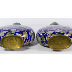 View 2: Chinese Cloisonne Urns