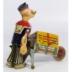 """View 2: """"Popeye Express"""" Tin Wind-up Toy"""