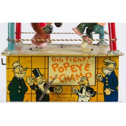 """View 5: Marx """"Popeye the Champ"""" Tin Wind-Up Toy"""