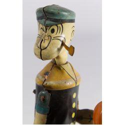 "View 4: J. Chein ""Popeye Floor Puncher"" Tin Wind-Up Toy"
