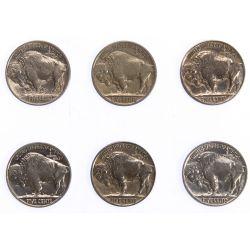 View 2: 1913, 1924, 1927, 1929, 1930-S, 1936 5c AU/UNC Details