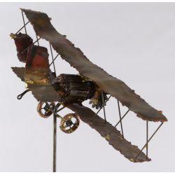 View 2: Mid-Century Modern Steampunk Airplane