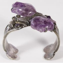 View 4: Sterling Silver and Amethyst Bracelet