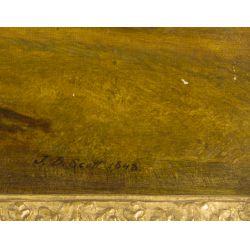 "View 3: John Douglas Scott (English, d.1885) ""Countryscape"" Oil on Canvas"