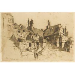 """View 2: Charles Adams Platt (American, 1861-1933) """"Rye Sussex"""" Etching"""