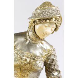 "View 4: Louis Carrier Belleuse (1848-1913) ""Melodie"" Bronze Statue"