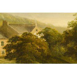 "View 5: John Douglas Scott (English, d.1885) ""Countryscape"" Oil on Canvas"