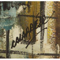 """View 3: Mid-Century Modern """"Butterflies"""" Oil on Board"""
