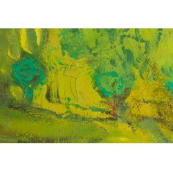 "View 2: Eleanor Coen (American, 1916-2010) ""Yellow Sun Landscape"" Oil on Canvas"