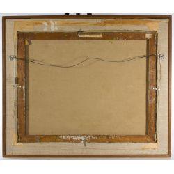 "View 6: Eleanor Coen (American, 1916-2010) ""Yellow Sun Landscape"" Oil on Canvas"
