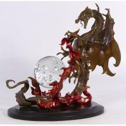 "View 2: Bronze ""Dragon of Destiny"" Sculpture by Franklin Mint"