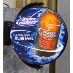 View 2: Bud Light Rotating Advertising Sign