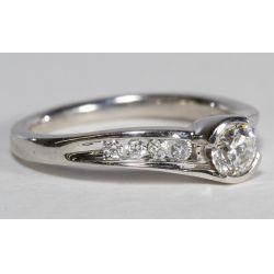 View 2: 14k White Gold and Diamond Ring Set
