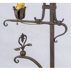 View 4: Arts and Crafts Style Wrought Iron Floor Lamp (in the manner of) Samuel Yellin