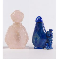 View 2: Asian Carved Stone Snuff Bottles