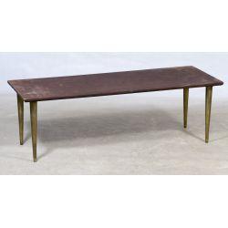 View 2: Mid-Century Modern Italian Stone Top Coffee Table