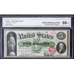 1863 $5 Legal Tender