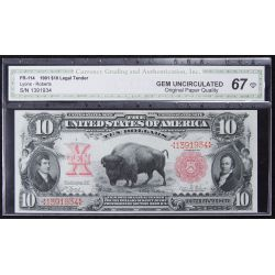 "1901 $10 ""Bison"" Legal Tender"
