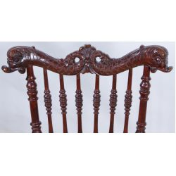 View 2: Victorian Mahogany Carved Chair