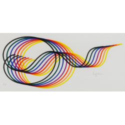 "View 2: Yaacov Agam (Israeli / French, b.1928) ""Lines and Forms"" Lithograph"