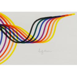 "View 4: Yaacov Agam (Israeli / French, b.1928) ""Lines and Forms"" Lithograph"