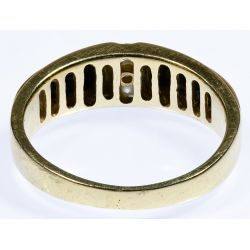 View 2: 10k Gold, Onyx and Diamond Ring