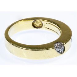 View 2: 18k Gold and Diamond Ring