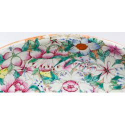 View 3: Chinese Ching / Qing Millefiori Famille Rose Plate