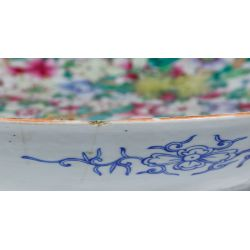 View 6: Chinese Ching / Qing Millefiori Famille Rose Plate
