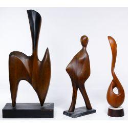 View 2: Gert Olsen (American, 20th Century) Hand Carved Wood Sculptures