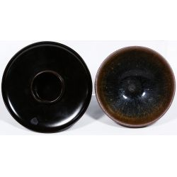 View 5: Chinese Tea Bowl, Stand, Caddy, Mortar and Pestle