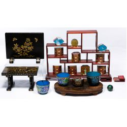 View 2: Cloisonne and Stand Assortment