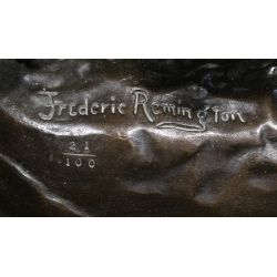 """View 3: (After) Frederic Remington (American, 1861-1909) """"Coming Thru the Rye"""" Sculpture"""