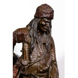 """View 4: (After) Frederic Remington (American, 1861-1909) """"Mountain Man"""" Bronze Statue"""