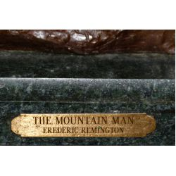 """View 5: (After) Frederic Remington (American, 1861-1909) """"Mountain Man"""" Bronze Statue"""