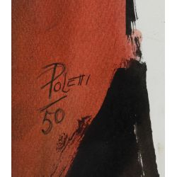 View 9: Poletti (American, 1908-1996) Watercolors on Paper